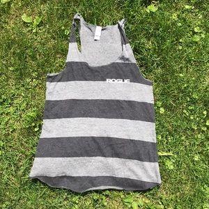 Rogue fitness stripe tank top